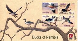 Namibia Mi# 1005-8 Used On FDC - Fauna Birds - Namibia (1990- ...)