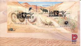 Namibia Mi# Block 53 Used On FDC - Fauna - Namibia (1990- ...)