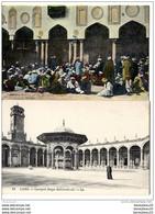 LOT DE 2 CPA (Réf :O121) LE CAIRE (AFRIQUE EGYPTE) Mosquée De Mohammed-Ali. - La Cour. LL (très Animée) - El Cairo