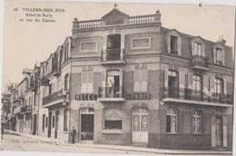 CP Dept 14 VILLERS Sur MER Trés Rare Cliche De L'hotel De Paris Et Rue Du Casino - Villers Sur Mer