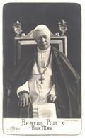 BEATUS PIUS X PONT MAX SOUVENIR SIGNE PERRIN ROME PÂQUES 1931 IMAGE PIEUSE HOLY CARD SANTINI PRENTJE - Devotieprenten