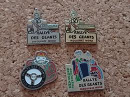 LOT DE 4 PINS RALLYE DES GEANTS FREQUENCE NORD GROUPAMA ASSURANCES - Rallye