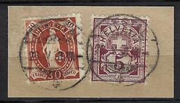 SUISSE 1898:  Les ZNr.60B,68D Sur Fragment, B. Affr. Mixte, Superbe Obl. CAD Liestal Du 28.V.98 - Used Stamps