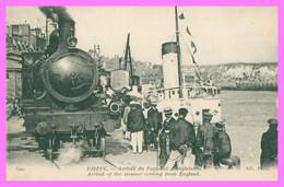 DIEPPE - Arrivée Du Paquebot D'Angleterre - Train Vapeur En Gros Plan - Animée - Edit. N.D. Photo - 1918 - Dieppe