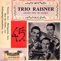 Disque - Trio Raisner - Taccata - Malaguena -festival FX.45.1008 M - France 1956 - Instrumental