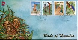 Namibia Mi# 1073-6 Used On FDC - Fauna Birds - Namibia (1990- ...)