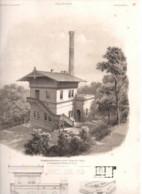 Neisse Bei Gorlitz 1868 Wasser Bahnhof  - Litho Lithographie - Allemagne Architecture - Lithografieën