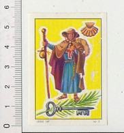 Petite Image Le Pélerin Pélerinage De Compostelle ?? Coquille Saint-Jacques Coquillage IM 16/7 - Nestlé