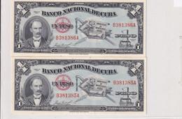 Cuba  2x 1 Peso 1853 UNC - Cuba