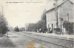 36 - INDRE - SAINTE LIZAIGNE - LA GARE L'ARRIVEE D'UN TRAIN - EDIT PAUL DIGUET - CARTE RARE ! - Other Municipalities