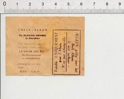 (état Usagé) Chèque-Album Les Hommes Bleus Au Maroc Walt-Disney La Vache Qui Rit  IM 16/7 - Schokolade