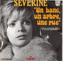 """Disque - Severine - """"un Banc, Un Arbre, Une Rue"""" - Philips 6009135 L -France 1971 - - Disco, Pop"""