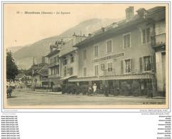 73 MOUTIERS. Le Square Et Hôtel Bertoli Et Café Du Globe - Moutiers