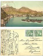 Austria 1909 Postcard 3114 Lago Di Garda - Riva   With Ferrry, Ship - Storia Postale