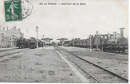 36 - INDRE - LA CHATRE - LIGNE ARGENTON LA CHATRE - INTERIEUR DE LA GARE  EDIT. A. DUMAS  -1908 -  BEAU PLAN - T.B.E. - La Chatre