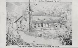 Selzaete   -   De Nieuwe Kerk Van Debbautshoek   -   St. Antonius Kerk   -   Litho - Zelzate