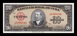 Cuba 20 Pesos Antonio Maceo 1958 Pick 80b SC- AUNC - Cuba