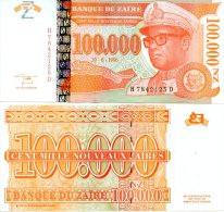 ZAIRE 100 000 N.Zaires 1996 06 30  P 77 UNC   Hôtel Des Monnaies - Zaïre - Zaire