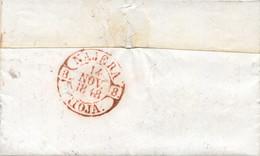 D.P. 8. 1848 (17 NOV). Carta De Logroño A Nájera. Fechador De Llegada Al Dorso Nº 5R. Sin Portear. Preciosa. Ex Col. De - ...-1850 Vorphilatelie