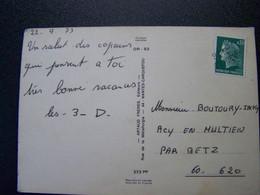 France - Oblitération De Fortune - Annulation Linéaire De BETZ (60) - Sur Cheffer - Sur CPSM - Unclassified