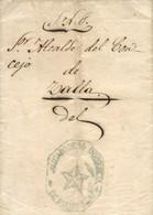 1859 (31 AGO). Carta De Balmaseda A Zalla. Marca Del Juzgado De 1ª Instancia Recuadrada En Verde. Bonita. - Franquicia Postal