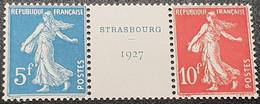 Timbre Du Bloc De Strasbourg N° 2 (n° 242A) Neuf ** Gomme D'Origine Signé Calves à 20% De La Cote  TB - Mint/Hinged