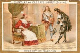 CHROMO CHOCOLAT DE L'ABBAYE D'IGNY  COLBERT ET MAZARIN - Schokolade