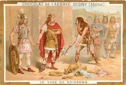 CHROMO CHOCOLAT DE L'ABBAYE D'IGNY  LE VASE DE SOISSONS - Schokolade