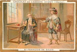 CHROMO CHOCOLAT DE L'ABBAYE D'IGNY  SAINT FRANCOIS DE SALES - Schokolade