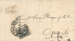 Ø 215 En Carta De Bilbao A Oporto, El 24/11/1900. Sello Con El Dentado Muy Desplazado Que No Hace Visible El Importe. Ma - 1889-1931 Kingdom: Alphonse XIII