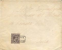 "Ø 219 En Sobre A Soria, El Año 1909. Mat. Cartería ""SORIA/ADRADAS"" En Negro. Llegada. Rara. - 1889-1931 Kingdom: Alphonse XIII"