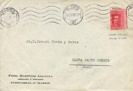 Ø 317A En Sobre De Madrid A Cabra Del Santo Cristo (Jaén), El 14/7/1926. Variedad Por Dentado Desplazado Que Solo Permit - 1889-1931 Kingdom: Alphonse XIII