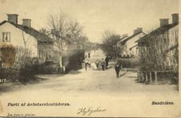 Sweden, SANDVIKEN, Parti Af Arbetarebostäderna (1899) Postcard - Suecia