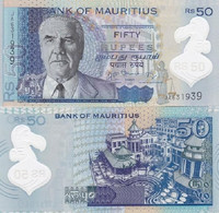 Mauritius - 50 Rupees 2013 UNC P. 65 Polymer Lemberg-Zp - Mauritius