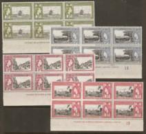Jamaica  1955  SG 153-8  Tercentenary 27-8 Margin Blocks Of Four   Unounted Mint - Jamaica (...-1961)