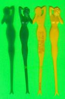 MÉLANGEURS À BOISSON, TOUILLEUR - 4 SIRÈNES - CASINO BELLEVUE,RUE ONTARIO, MONTRÉAL, QUÉBEC - Swizzle Sticks