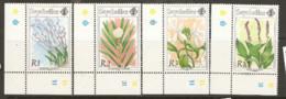 Seychelles  1991  SG 818,20,1.  Flowering Shrubs  Unmounted Mint - Seychelles (1976-...)