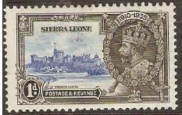 Sierra Leone  1935  SG 181   1d  Silver Jubilee  Mounted Mint - Sierra Leone (...-1960)