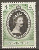 St  Vincent  1953   SG 188 Coronation   Mounted Mint - St.Vincent (1979-...)