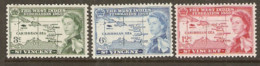 St  Vincent  1958  SG  201-3  B W I Federation  Mounted Mint - St.Vincent (1979-...)