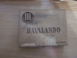 Old Wooden Box Havalando M Muhlensiepen 20 Stuck - Tabaksdozen (leeg)