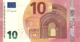 10 Euro - Signature Ch. Lagarde Serie WA - GERMANY Plate W003 Perfect UNC - 10 Euro