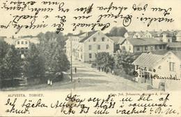 Sweden, ALFVESTA, Torget, Street Scene (1904) Postcard - Suecia