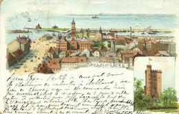 Sweden, HELSINGBORG, Panorama Kärnan (1903) Anna Palm Litho Postcard - Suecia
