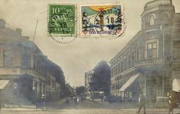 Sweden, HALMSTAD, Brogatan (1912) RPPC Postcard - Suecia