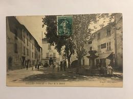 Ancienne Carte Postale-Var-solliés-toucas-place De La Mairie - Sonstige Gemeinden