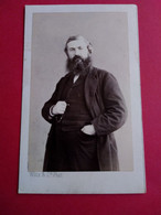 Photo CDV Second Empire - Homme Debout Grande Barbe - Identifié - Autographe - 1865 - Photo Witz à Rouen - TBETBE - Ancianas (antes De 1900)