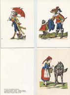 Epinal, Images Pellerin, 3 Contes, Le Petit Chaperon Rouge, Le Chat Botté, Cadet Rousselle - Prenten & Gravure