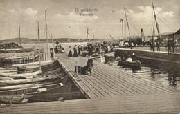Sweden, ÖRNSKILDSVIK, Hamnen, Harbor Scene (1918) Postcard - Suecia