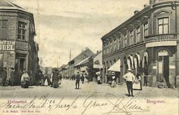 Sweden, HALMSTAD, Brogatan, Hotel Central (1906) Postcard - Suecia